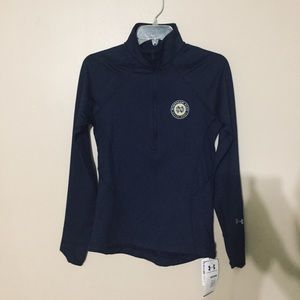 NEW Under Armour Notre Dame qtr zip Pullover